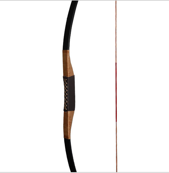 traditonal Outdoorcompound bow shooting practice Black leather Handmade Bow Longbow bowbag bow arrows