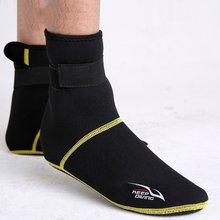 Neopren Dalış Tüplü Dalış Ayakkabı Çorap 3mm Plaj Botları Wetsuit Anti Çizikler Isınma Anti Kayma Kış Mayo(China)