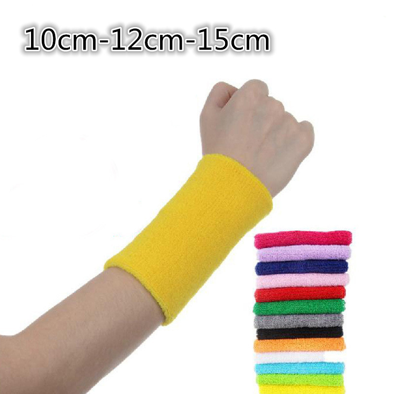 100% Cotton New Sport Basketball Wristband Brace Wrap Bandage Gym Strap Running Sports Safety Wrist Support Badminton Wrist Band