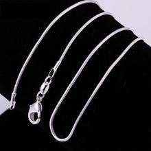 2014 New ! 1mm,2mm snake chain  Wholesale Free shipping 925 sterling silver snake chain necklace.fashion jewelry(China (Mainland))