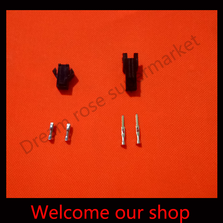 10 sets 2Pin/way Connector terminals for car 2.54mm SM-2P Kit (male&amp;female Housing+Terminal) for car / boat / ship ect.<br><br>Aliexpress