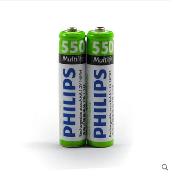 Free shipping high quality battery for 2 pcs Philips RECHARGEABLE NiMH AAA battery, 550mAh with good quality and best price(China (Mainland))