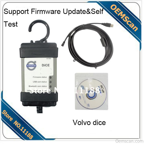 DHL free shipping fast delivery 2014D Vida Volvo Dice Pro not only J2534 but also Volvo Protocol Support Firmware update(China (Mainland))