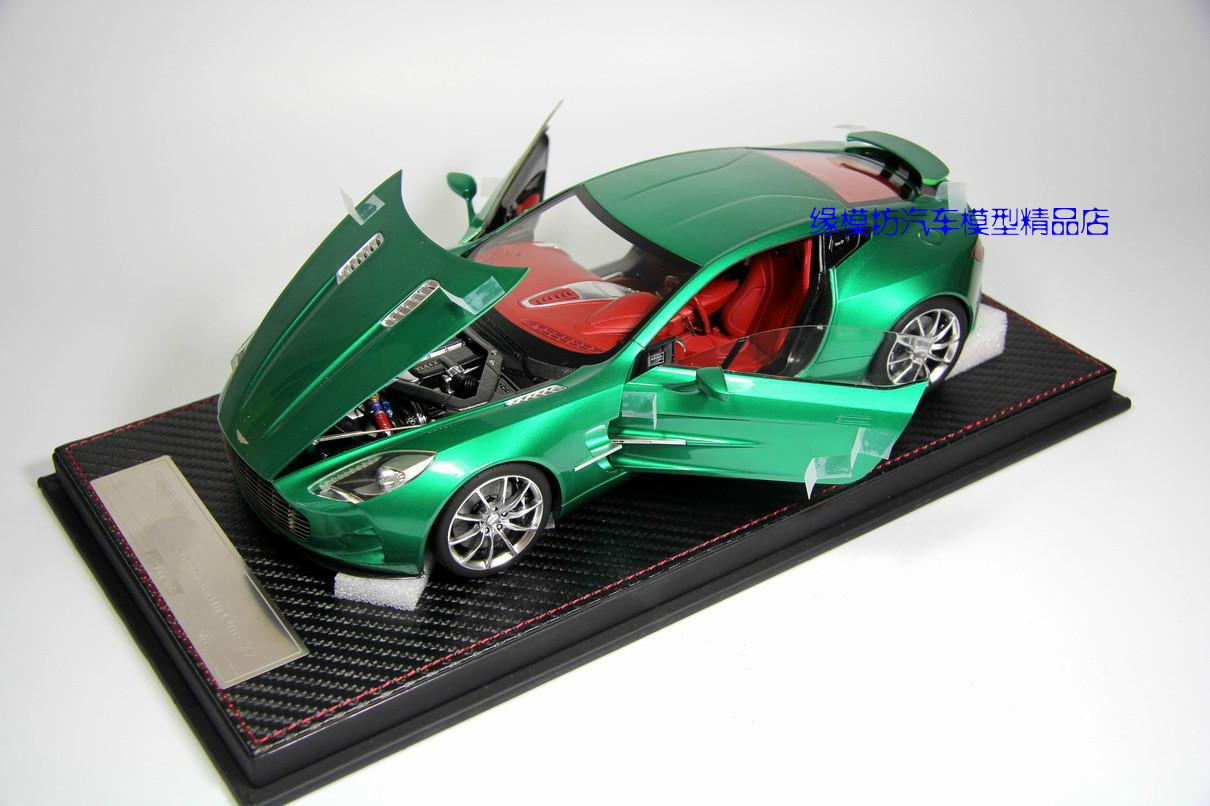 Die FRONTIART 1:18 Aston Martin Fang margin ONE77 hand open style metal green<br><br>Aliexpress