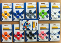 4 pcs / lot in retailed packaging box Silicone Thumb Stick Grip Cap Cover joystick case for xbox 360 ps 4 ps3 wii nintendo one