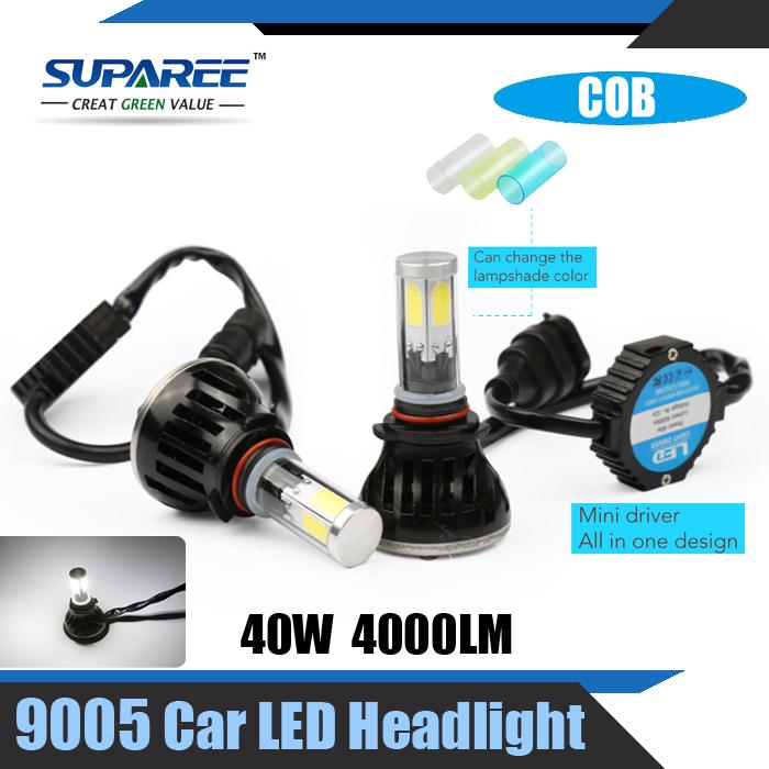 Fashional High Quality 1Set COB 40W 9005 Car LED Headlight 4000LM 5000K/6000K/8000K Auto Lamp Car LED Light Bright Car Styling(China (Mainland))