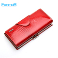 100 Genuine Leather Wallet for Women High Quality Coin Purse Female Purse Female Long Design