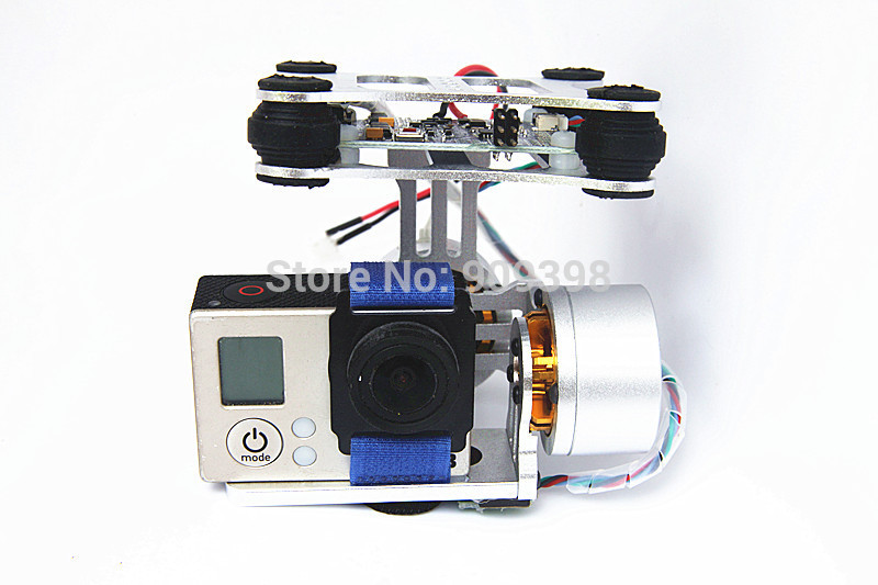 Gopro Hero3 DIY CNC Metal Camera Gimbal Mount For DJI Phantom X525 F450