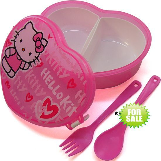 travel sanrio Hello Kitty Lunch Box case For Kids Cartoon Bento Box Free Shipping for micro wave oven(China (Mainland))