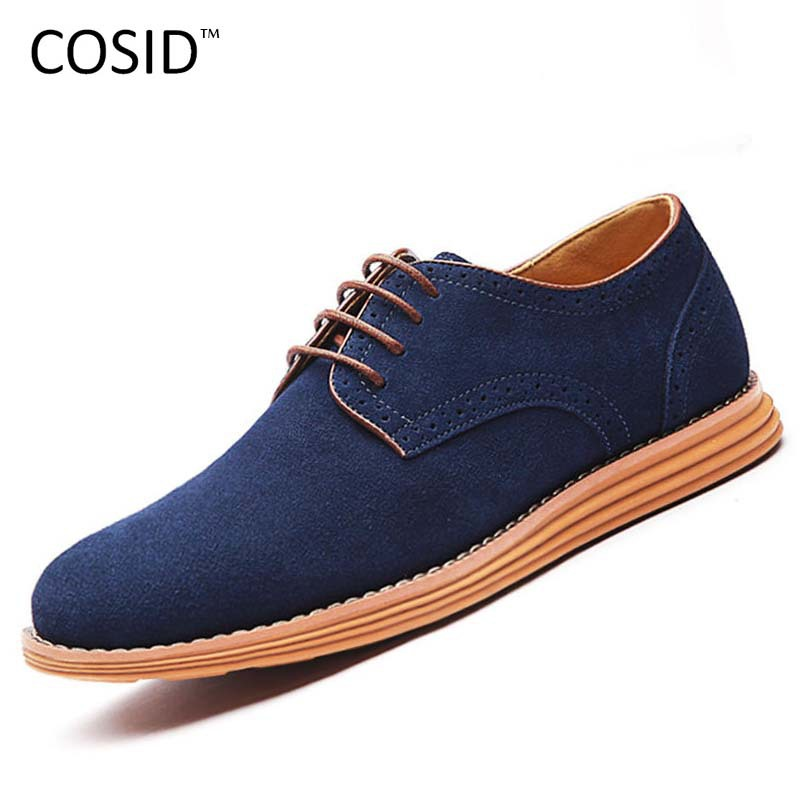 men Casual Shoes Suede genuine leather Winter Men High Top Men's Plus Size zapatos hombre BRM-021 - COSIDRAM 0001 Store store
