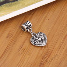 Buy 10 pcs Vintage tibetan silver big hole bead fit Pandora charm bracelet DIY heart charms jewelry making 2898 for $1.42 in AliExpress store