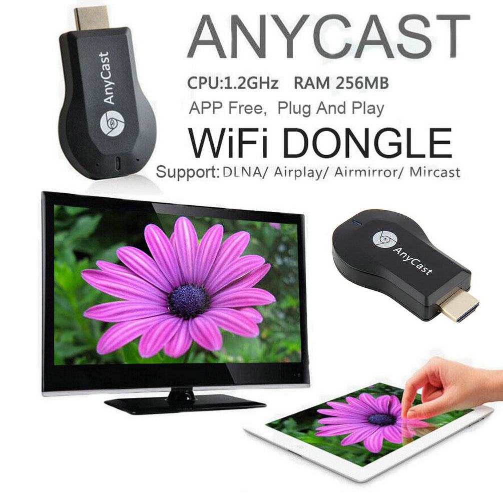 AnyCast M2 Airplay Wireless Wifi Display TV Dongle Receiver DLNA Easy Sharing Mini TV Stick HD 1080P for Android IOS WINDOWS NEW(China (Mainland))