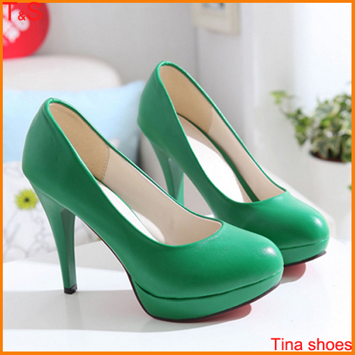 Free shipping fashion women's red bottom high heel pumps platforms sweet more colors pumps spring ladies shoes A-7(China (Mainland))