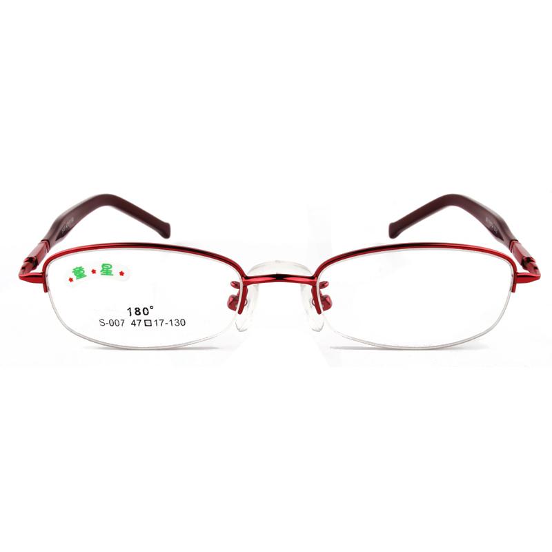 Prescription Glasses Frames And Lenses : 2015 New Fashion Half Frame Boy and Girls Glasses Frame ...