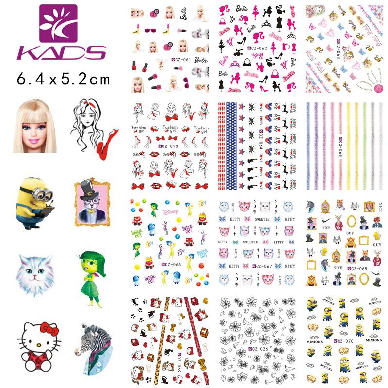 CZ061-070 sticker minx nail sticker fashion girl & cat water women nail art stickers for nail water transfer rhinestone sticker(China (Mainland))