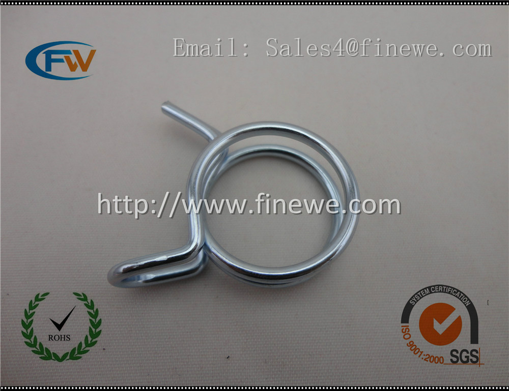 Custom wire formed spring metal Tube hose spring clamps linear spring  wire spring<br>