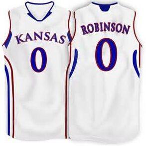 # 0 Thomas Robinson Kansas Jayhawks basketball custom jersey any size, #3 Andrew White III Retro College Basketball Jersey(China (Mainland))