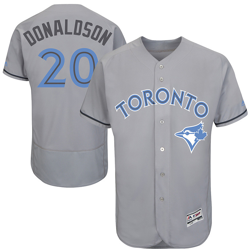 Mens Father's Day & Mother's Day #20 Josh Donaldson Jersey Color Gray Blue White Pink Baseball Jerseys(China (Mainland))