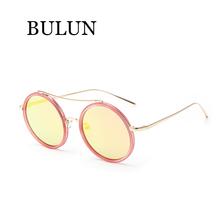BULUN 2015 Metal Round Sunglasses Women Brand Designer Classical Reflective Sun Glass For Women Oculos De Sol Feminino Gafas