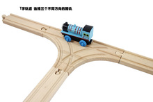 New Thomas and Friends --1PCS Thomas Wooden Train Track Railway Accessories --T Track 21CM Free Shipping(China (Mainland))