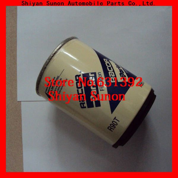 auman truck part oil fuel water seperator filter r90t with cap with seat(China (Mainland))