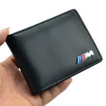 Styling M Badge Men Wallets Driving License Credit Card Holders Genuine Leather ///M Mens Wallet for BMW X1 X3 X5 X6 3 5 Series