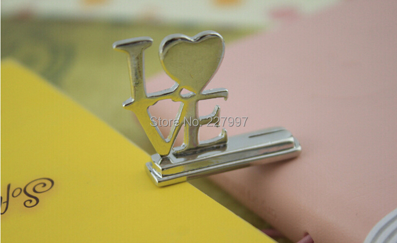 """1000pcs/lot Fashionable Design !! Silver Stainless Steel """"LOVE"""" Style Table Wedding Place Card Holders(China (Mainland))"""
