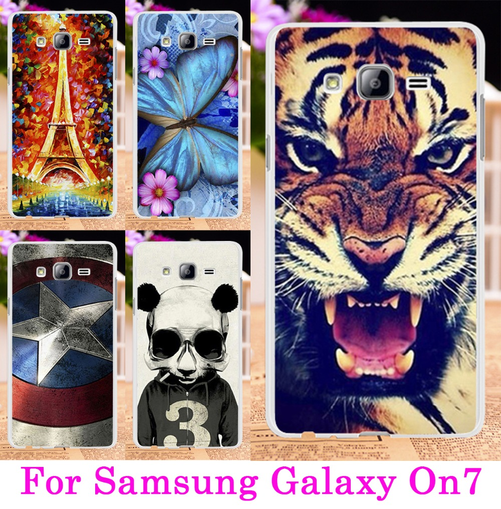 2016 Transparent Side Phone Cases For Samsung Galaxy On7 Cover Case On 7 Mega O7 G600 G6000 Protective Skin Shell Cellphone Bags(China (Mainland))
