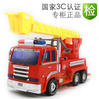 Baby toy throngs ambulance aerial ladder fire truck inertia car toy car