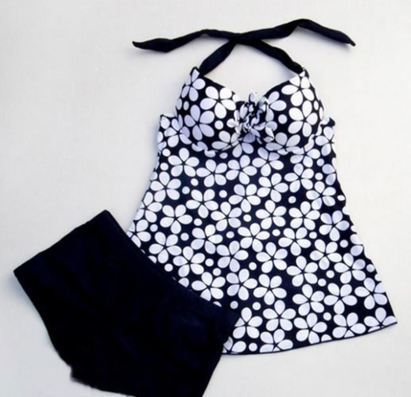 Brand new 2015 Summer swimsuit women push up tankinis dot parttern fashion ladies swimwear(China (Mainland))