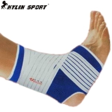 Free shipping adjustable Ankle Support  2015 new 1 pair ankle pad protection elastic brace guard support sports gym blue(China (Mainland))