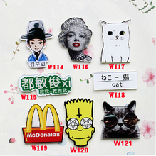 (min mix order is $10) Without Pin New Harajuku Cute Cat McDonald's Diy accessories ,Cell Phone Sticker Decorations