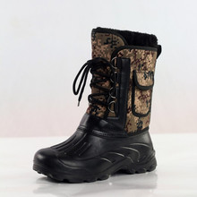 New Hot Sale Size 41-46 Outdoor Camo Hunting Boots Camouflage Front Lacing Waterproof Snow Boots Fishing Shoes(China (Mainland))