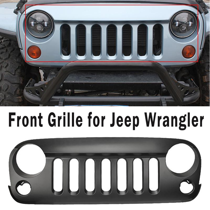 Car Innovative Accessories Grille Auto Styling ABS Front Grill For Jeep Wrangler JK 07 08 09 10 11 12 13 14 15(China (Mainland))