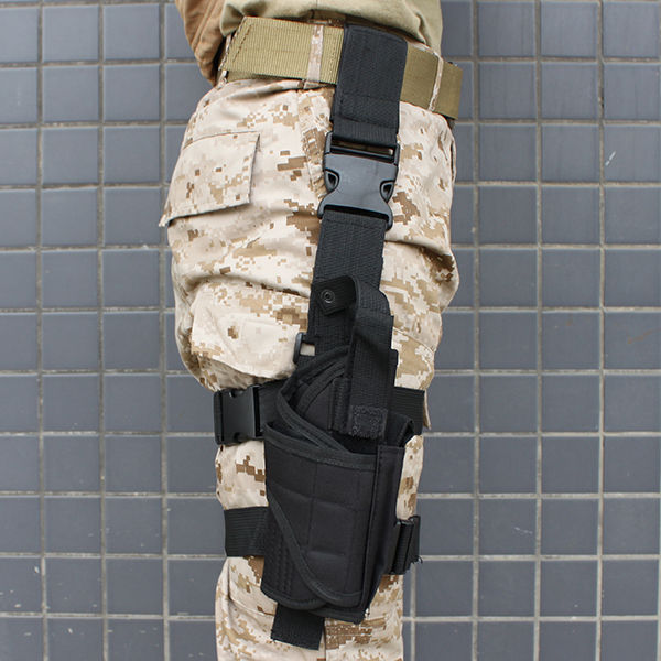 Black Adjustable Tactical Army Pistol Gun Leg Thigh Holster Pouch Holder Free shipping<br><br>Aliexpress