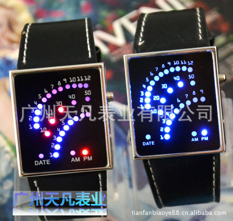 s fashion novelty wrist designer led screen high