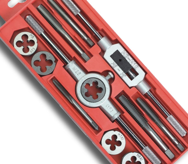 Hot tap die Set 12 sets of tap wrench tool thread tapping<br><br>Aliexpress