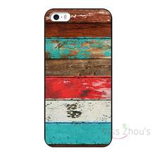 For iphone 4/4s 5/5s 5c SE 6/6s 7 plus ipod touch 4/5/6 back skins mobile cellphone cases cover Eco Fashion Vintage wood
