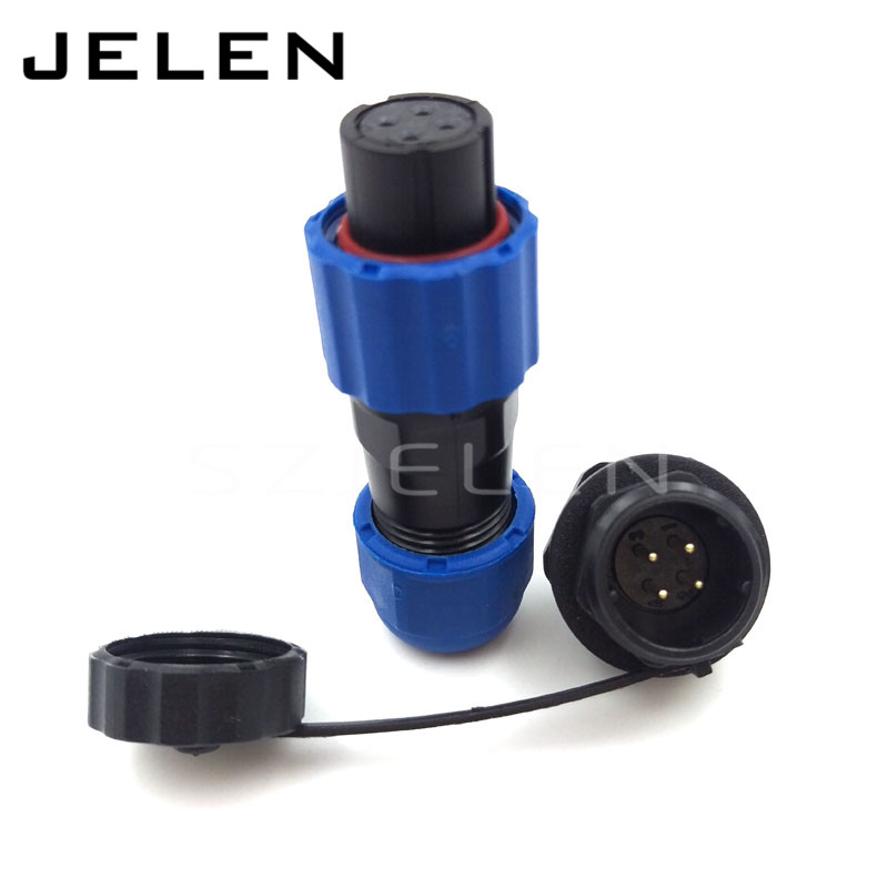 SD13, IP68 waterproof power 4 pin circular connector, IP68,Soldering Electric Cable Wire Waterproof Connector 4 pin plug socket(China (Mainland))