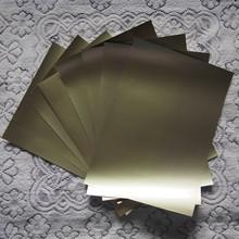 (A3*8piecs) Heat Transfer Vinyl PU Flex Film Golden Color Cuttable PU Film for T shirts Iron On Vinyl Heat Press Vinyl Transfer(China (Mainland))