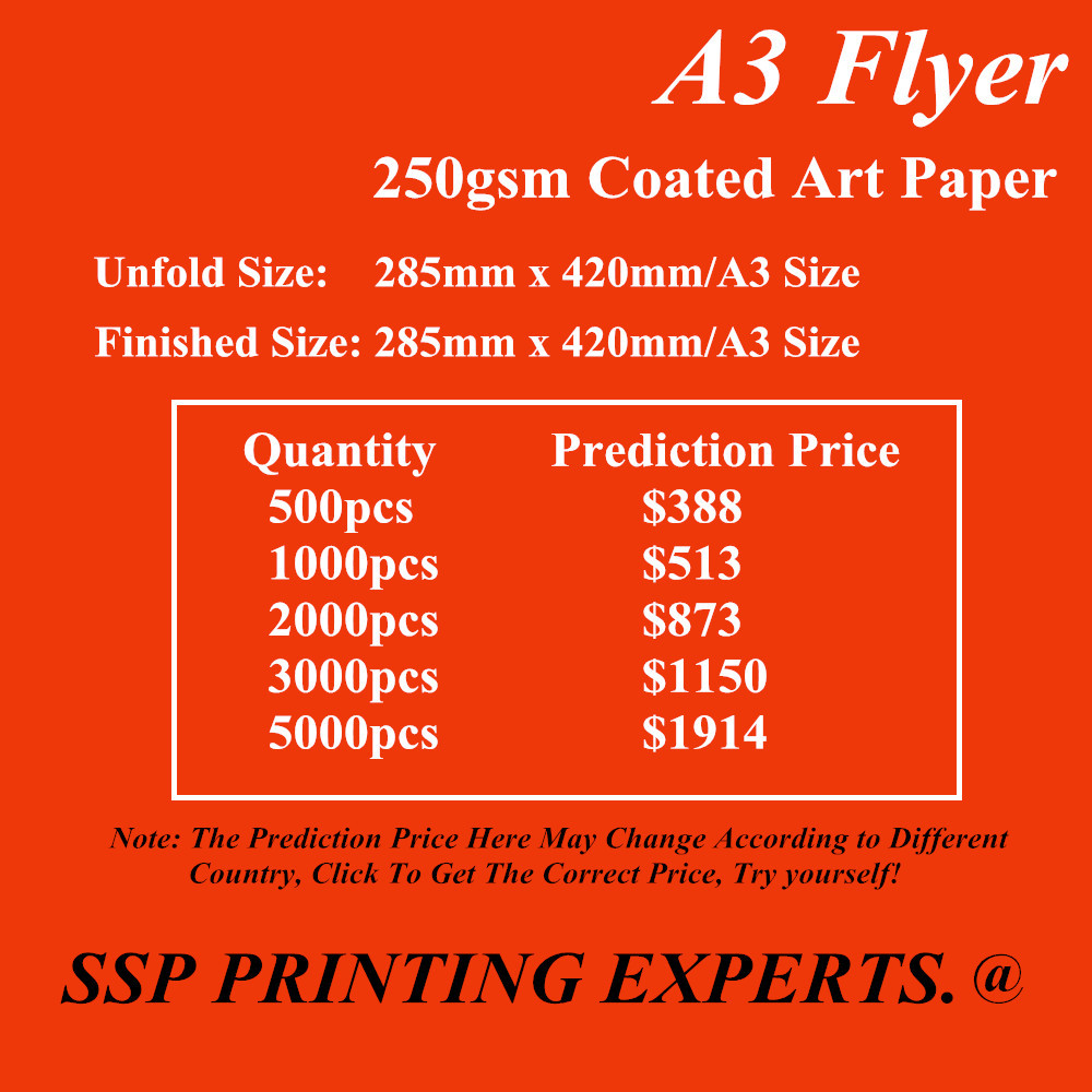 By Express Brochure Literature Leaflet Factory Printing Service A3 Flyer 250gsm Glossy Art Paper Full Color 500pcs High Quality<br><br>Aliexpress