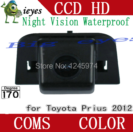 CMOS CCD Chip night vision for 2012 Toyota Prius Car Rear View camera parking rear monitor rearview system reversing ca(China (Mainland))