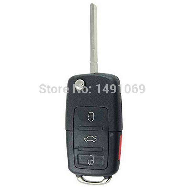 New Replacement 4 Button Flip Key Keyless Entry Remote Control Fob Compatible with ID48 Chip HLO 1J0959753AM HLO 1J0959753DC<br><br>Aliexpress