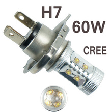 H7 60w High Power LED Car fog running light bulbs white 12V 24V DC Replace Xenon Halogen Lamps