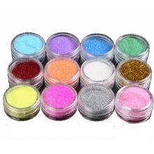 12pcs/lot Glitter Tattoo Body Glitter Powder Shimmer Glitter Tattoos Powder Colors Acrylic Glitter Dust Decoration Nail Art Tips(China (Mainland))