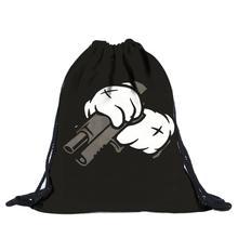 Buy 2016 Guarantee Unisex Emoji Backpacks 3D Printing Bags Drawstring Backpack cute backpack Free Yo for $3.64 in AliExpress store