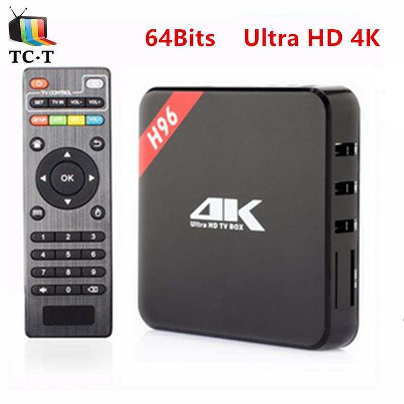 Original H96 64bits 4K Ultra HD TV BOX 1GB+8GB Android 5.1 Amlogic S905 Quad Core Cortex-A53 1080P Kodi Add-on Install Media BOX(China (Mainland))