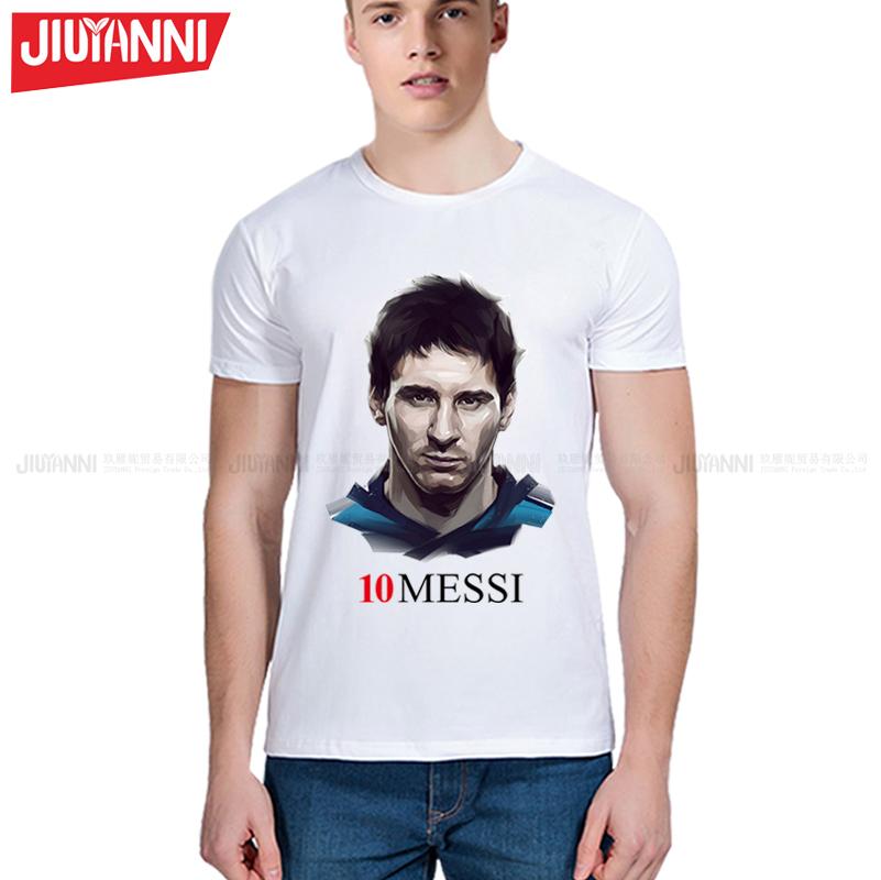 2017 summer MESSI Men t-shirt tops Man casual short sleeve t shirts Printing T Shirts Casual Tops Tee Plus Size 5XL(China (Mainland))