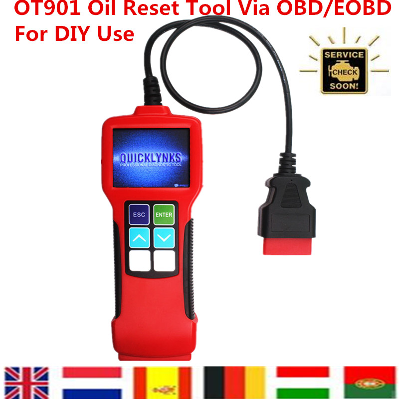 Free Shipping High Quality Original OT901Oil Service Light (Reminder) Oil Light Reset Tool Updateable via Internet For DIY Use <br><br>Aliexpress