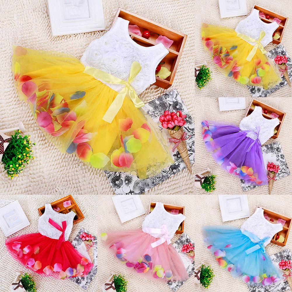 Baby Kids Girls Princess Pageant Party Tutu Dress Lace Bow Flower Tulle dress<br><br>Aliexpress